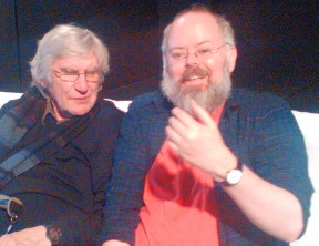 Ged with Keith Johnstone.  Ged's the pretty one.